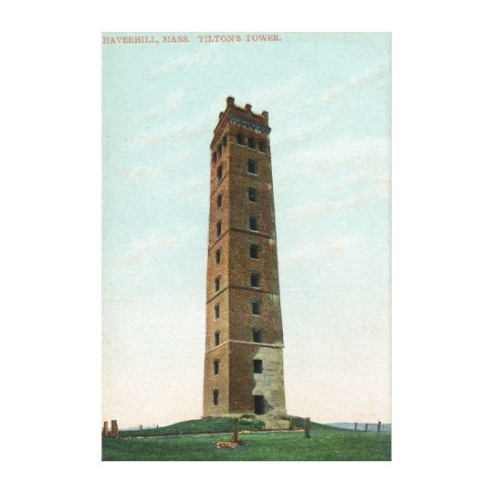 View of Tilton's Tower Canvas Print