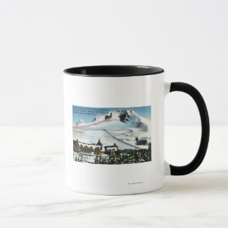 View of Timberline Lodge, Mt Hood in Winter Mug