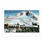View of Timberline Lodge, Mt Hood in Winter Postcard