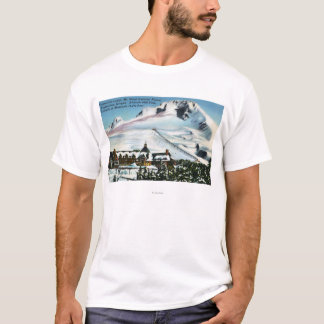 View of Timberline Lodge, Mt Hood in Winter T-Shirt