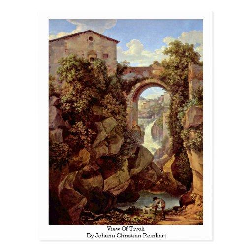 View Of Tivoli By Johann Christian Reinhart Post Card