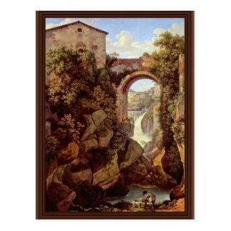 View Of Tivoli By Reinhart Johann Christian (Best Postcard