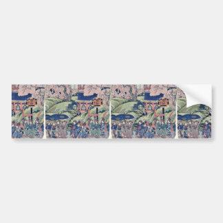 View of Toei Hill in Ueno by Utagawa,Kuniyasu Bumper Stickers