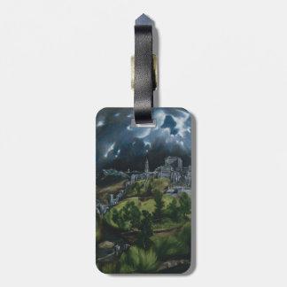 View of Toledo by El Greco Luggage Tag