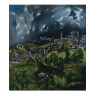 View of Toledo by El Greco Poster