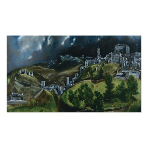 View of Toledo, El Greco Business Cards