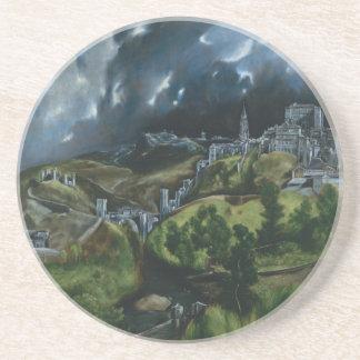 View of Toledo El Greco Beverage Coaster