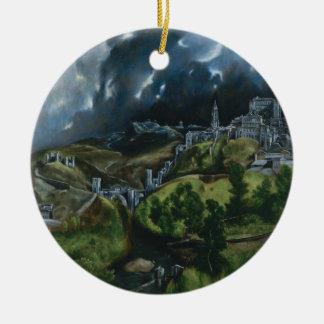 View of Toledo El Greco Ornament