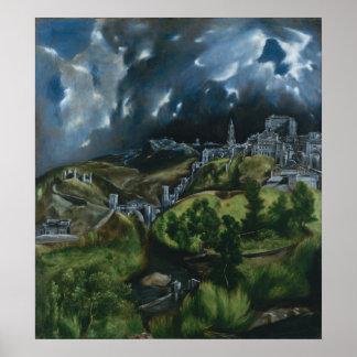 View of Toledo, El Greco Print