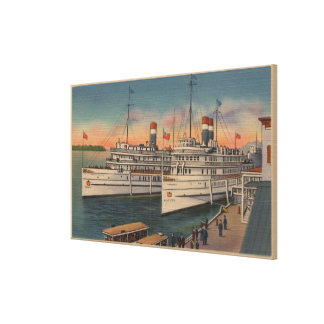 View of Toronto & Kingston on St. Lawrence River Canvas Prints