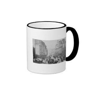 View of Tottenham Court Road, c.1885 Ringer Coffee Mug