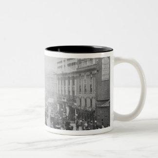 View of Tottenham Court Road, c.1885 Two-Tone Coffee Mug