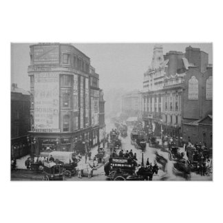 View of Tottenham Court Road, c.1885 Poster