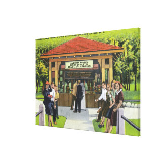 View of Tourists at the Hathorn Spring House Canvas Print