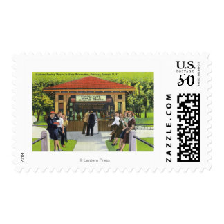 View of Tourists at the Hathorn Spring House Postage
