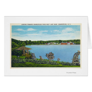 View of Town from West Lake Road Card