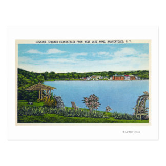 View of Town from West Lake Road Postcard