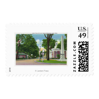 View of Town Hall and Paterson Monument Postage