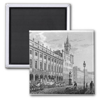 View of Town Hall, Exchange, Glasgow 2 Inch Square Magnet