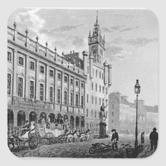 View of Town Hall, Exchange, Glasgow Square Sticker