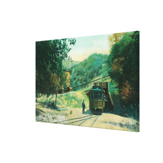 View of Train Entering Tunnel to Alum Rock Gallery Wrap Canvas