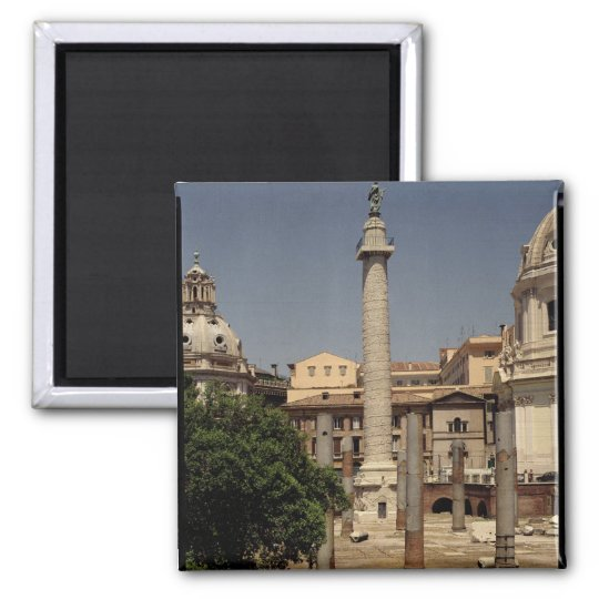 View of Trajan's Column, 113 AD 2 Inch Square Magnet