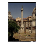 View of Trajan's Column, 113 AD Posters