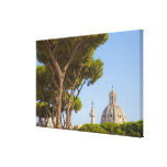 View of Trajan's Column Stretched Canvas Print
