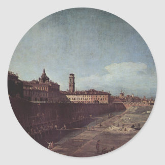 View of Turin from the Gardens of the Palazzo Classic Round Sticker