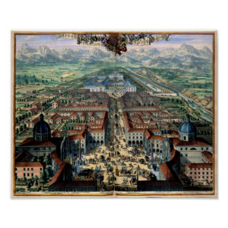 View of Turin Italy 1682 by Romeyn de Hooghe Poster