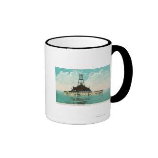 View of Twelfth Street Crib Lighthouse Coffee Mugs