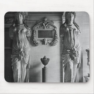 View of two caryatids from the Caryatids' Mouse Pad
