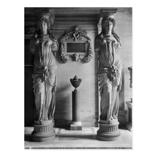 View of two caryatids from the Caryatids' Postcard
