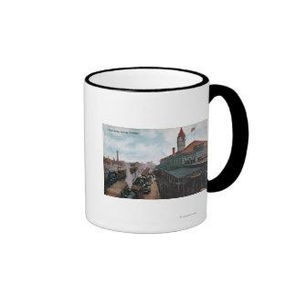 View of Union Station Railroad Coffee Mugs