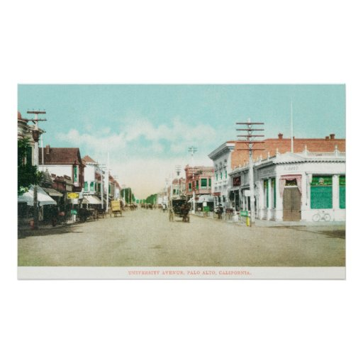 View of University AvenuePalo Alto, CA Poster