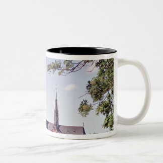 View of Uppsala Cathedral from the Castle Two-Tone Coffee Mug