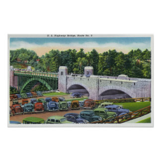 View of US Hwy Route 9 Bridge Posters