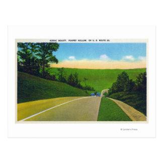View of US Route 20 Postcard