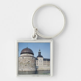View of Vadstena Castle, built in 1545 Silver-Colored Square Keychain