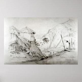 View of Valparaiso, 1834 Poster