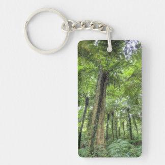 View of vegetation in Bali Botanical Gardens, Double-Sided Rectangular Acrylic Keychain