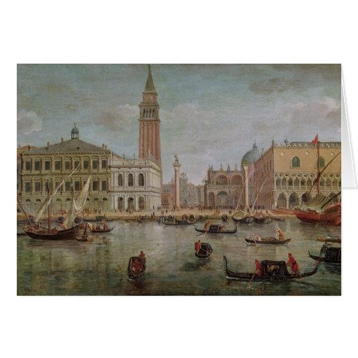 View of Venice, 1719 Greeting Card