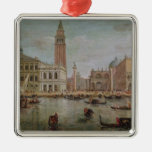 View of Venice, 1719 Square Metal Christmas Ornament