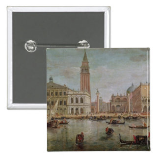 View of Venice, 1719 Pinback Button
