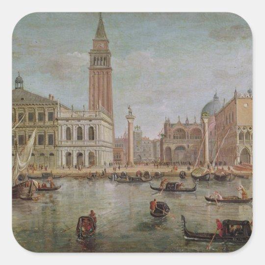 View of Venice, 1719 Square Sticker