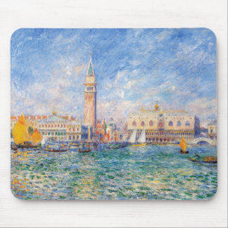 View of Venice by Renoir Mouse Pad