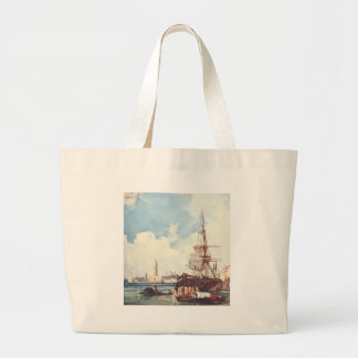 View of Venice by Richard Parkes Bonington Jumbo Tote Bag