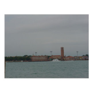View of Venice Mainland from Lido, Venice Postcard