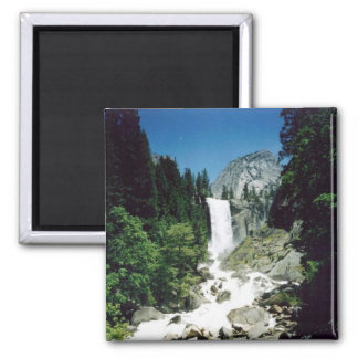 View of Vernal Falls 2 Inch Square Magnet