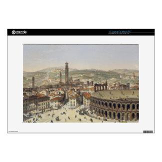 View of Verona, engraved by L. Cherbuin (colour en Laptop Skin